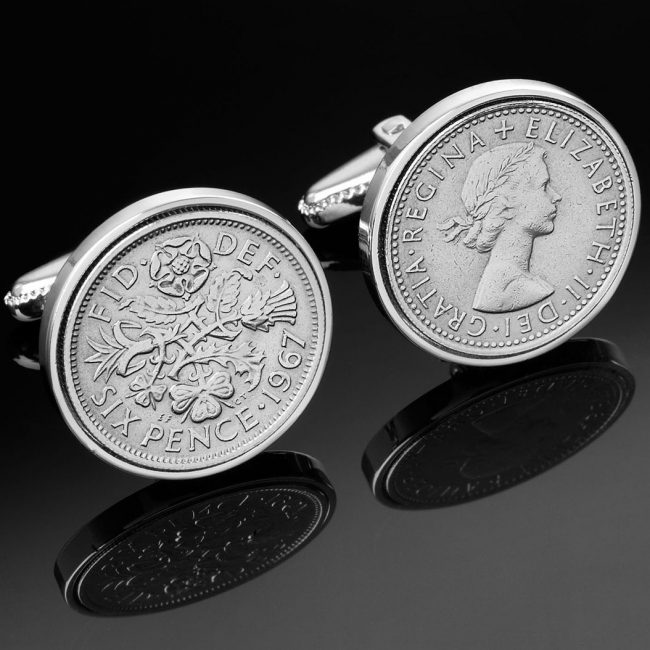 Sixpence Cufflinks Jewellery Photograph by Norton Photography and Retouching