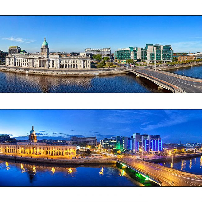 Dublin Quays Day and Night Panoramas Photo by Norton Photography and Retouching