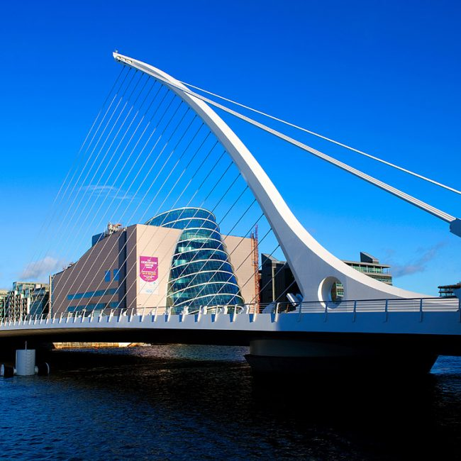 Samuel Beckett Bridge and Dublin Convention Centre Photograph by Norton Photography and Retouching