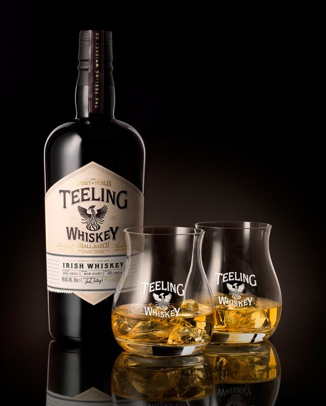 Teeling Whiskey Bottle with Two Glasses on the Rocks Photograph by Norton Photography and Retouching