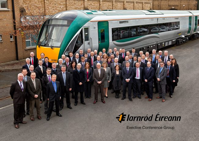 Irish Rail Executive Conference Group Portrait by Norton Photography and Retouching