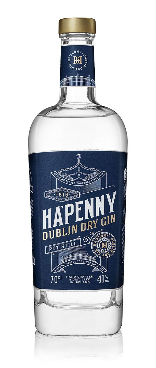 Bottle of Ha'Penny Dublin Dry Gin