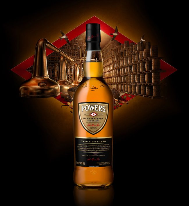 Powers Whiskey Bottle Advertising Photograph by Norton Photography and Retouching